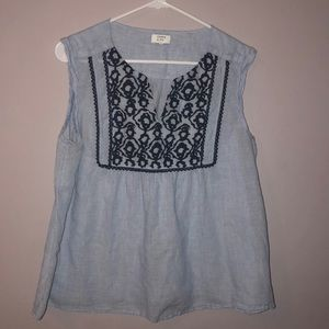 Crown and ivy embroidered tank top size L